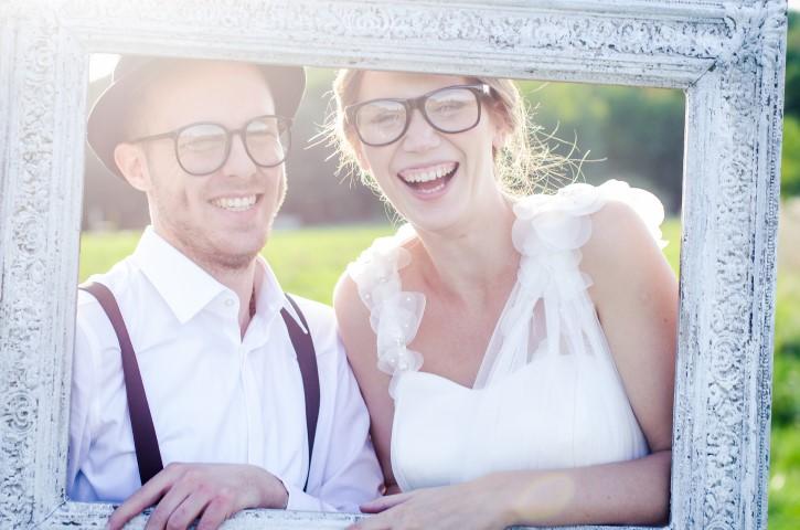 Bilderrahmen fuer Hochzeitsfotos
