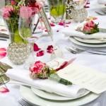 Deko romantische Tischdekoration