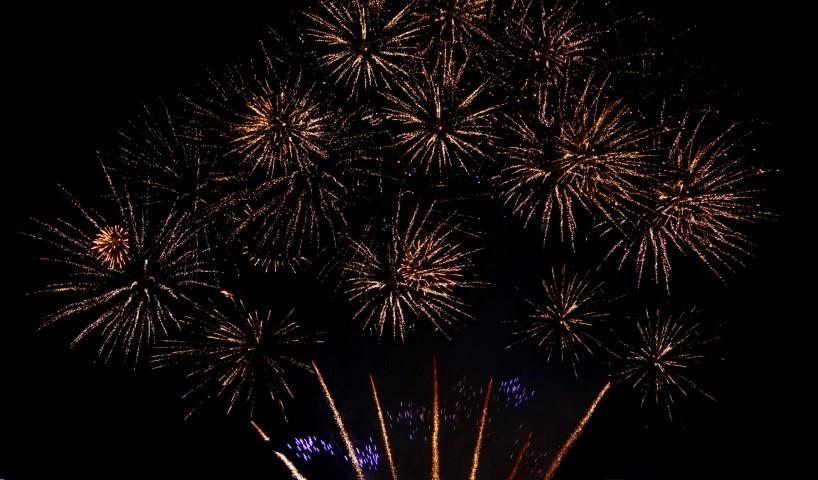 Feuerwerk zur Hochzei