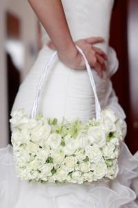 Florale Brauttasche