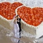 Hochzeitstorte mit Fruchtguss