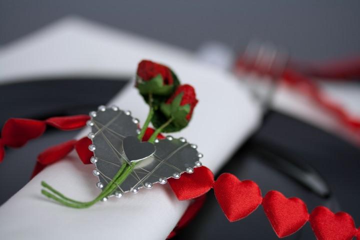 Romantische Tischkarte