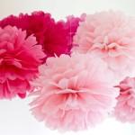 Rosa Wabenballons