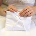 Schlichte Brauttasche