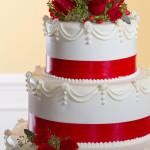 Schlichte Hochzeitstorte