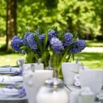 Tischdekoration violet