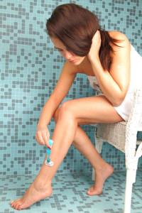 Rasur der Beine
