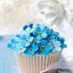 Cupcake blaue Blume