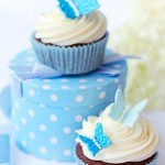 Cupcake blauer Schmetterling