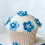 Muffins blaue Blumen