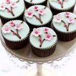 Muffins mit Kirschbluete