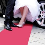 Roter Teppich zur Hochzeit