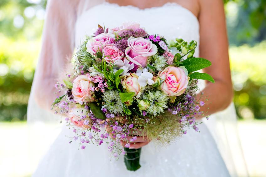 Brautstrauß rosé