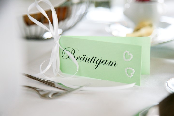 Individuelle Tischkarte