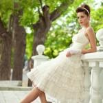 Kurzes Champagner Kleid